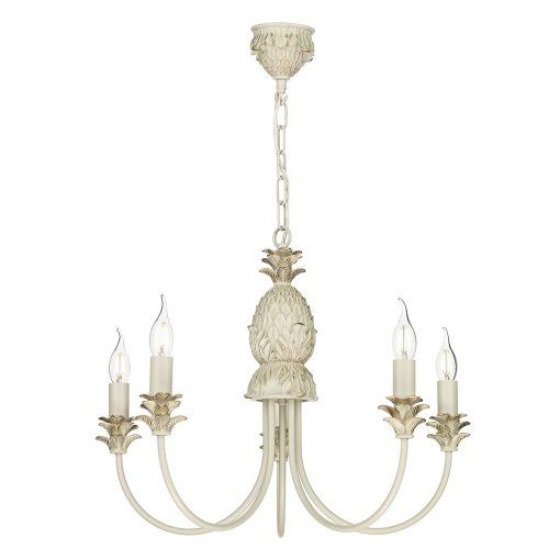 David Hunt Lighting CAB0512 Cabana 5 light pendant, Cream|Gold